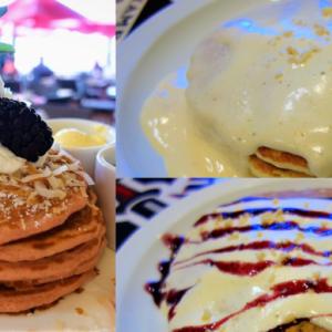 ロイヤルハワイアンのピンクパレスパンケーキVSブーツアンドキモズのパンケーキ!どちらが美味しい!?ハワイ人気パンケーキ対決!サーフラナイの朝食!