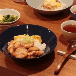 鶏胸肉と卵の二食丼献立