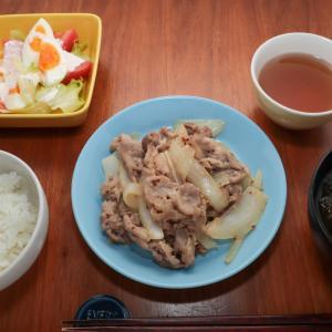豚肉と玉ねぎのマスタード炒め