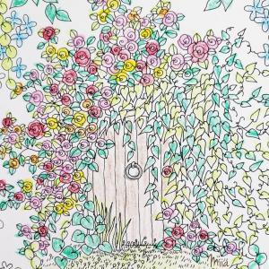 幸せの扉の先に、子どもが願うもの♡【ぬり絵にはまり中】