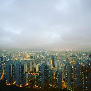 九龍城の黃珍珍泰國菜館 送別ディナー タ夜景を見にいけたのもよい思い出