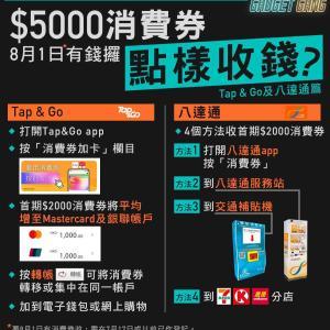 電子消費券 オクトパスは 地下鉄などで ピピっとすると 2000ドルチャージ!