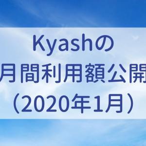 Kyashの月間利用額公開(2020年1月)