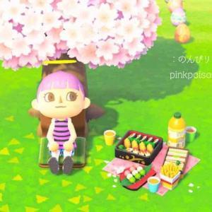 〈あつ森〉お花見セットとリカルドがきたよ〜