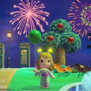 〈あつ森〉花火大会とガビの誕生日
