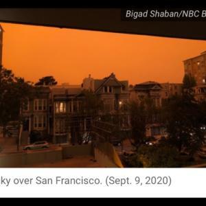 夜が明けない感じ?〜サンフランシスコの空が異様