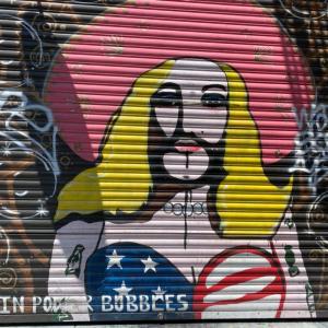 サンフランシスコの街の壁画アート