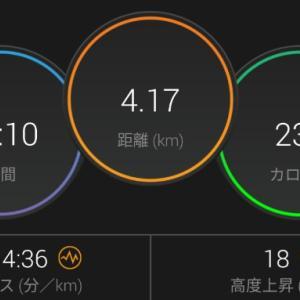 【ラン】絶☆不調からの復活の兆し【430ジョグ+5km頑張る走】
