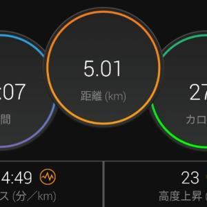 【ラン】ダイエットには毎日5km走ると良いらしい【キロ5ジョグ+437ジョグ】