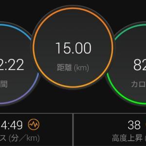 【ラン】15kmで筋肉痛になるって・・・【ペース走】