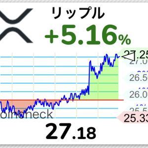 【朗報】仮想通貨リップル、27円まで急騰キタ━━━(゚∀゚)━━━!!【XRP】