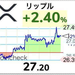 【朗報】仮想通貨リップル27円まで急騰、今年はswell上げくる!?【XRP】
