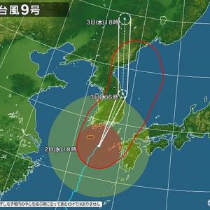 台風9号・10号