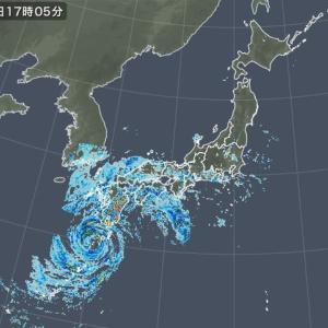 台風10号がやって来た