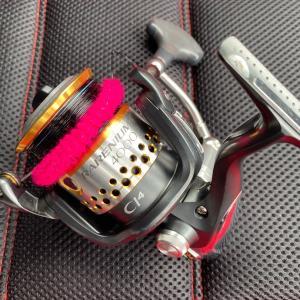 7/2 鮭釣り用リールのハンドルをちょした