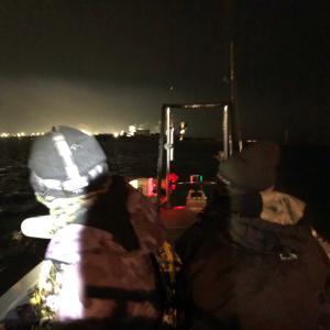 2020年初戦、夜のボートアジング