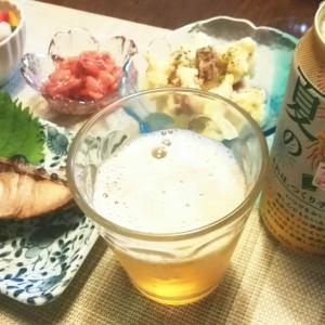 今夜のうち飲み♡ ビールにはヤゲン軟骨で。