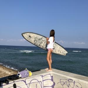沖縄旅行 2日目 ① 波乗り&SUP&シュノーケリング in 砂辺海岸