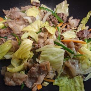 猪肉の野菜炒め