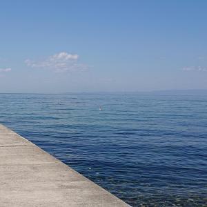 海岸でランチ
