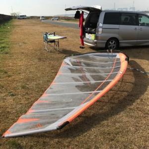 今日もウィンドサーフィンを楽しむ為にゲレンデに来ました