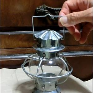 ブリキランプ丸をキャンドルからアルコール灯へ改造