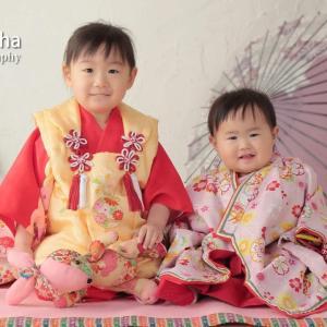 1歳用の着物もあります♡姉妹揃って和装も素敵(*^^*)