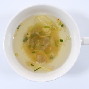 無印良品の牛肉と葱のテールスープ