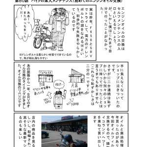 第80話:バイクの素人メンテナンス(初めてのエンジンオイル交換)