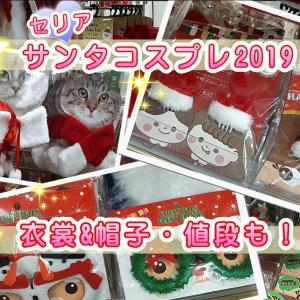 セリアクリスマス2019【サンタコスプレ衣裳・帽子】サイズ&犬猫ペット用も!