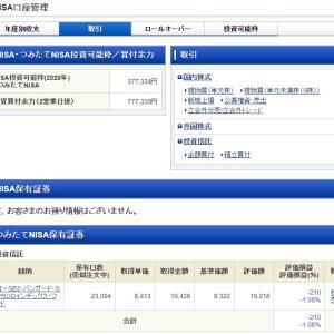 【妻のつみたてNISA】SBI・バンガード・S&P500 2020年4月3日購入実績