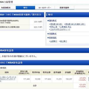 【妻のつみたてNISA】SBI・バンガード・S&P500 2020年8月24日購入実績