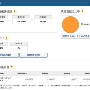 企業型確定拠出年金(みずほ信託外株インデックスS)2019年9月3日投資状況