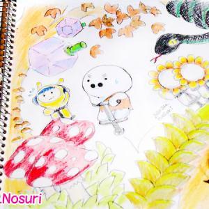 色鉛筆で手軽にお絵描き。見たままを描く。