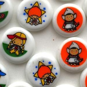 昭和でもっともかわいいおはじき~だと思う「サンリオ」ハローキティ パティ&ジミー リトルツインスターズ  バニー&マッティ リトルワールド