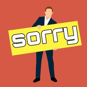 """""""I am sorry""""を連発している人は要注意!!"""