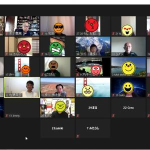 ZoomによるWeb交流会、34名の参加でした。