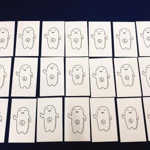 青野白さん作 「エゴちゃんカード」