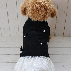 このお色の犬服がとても少ないからお作りしました。