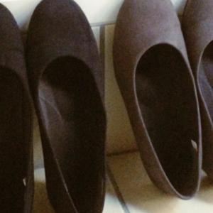 [ファッション] mina のバッグと MUJI の靴