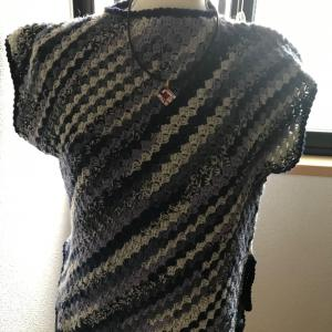 手編みチラ見せ  ミリオンバングル