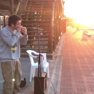 夕陽が綺麗な双海の海岸でオカリナ演奏してきました~♪
