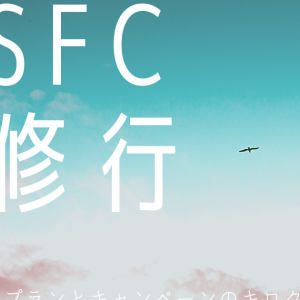 【SFC修行'21】利用したキャンペーンと大まかなプランのキロク