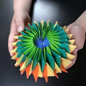 折り紙、娘と父の創作