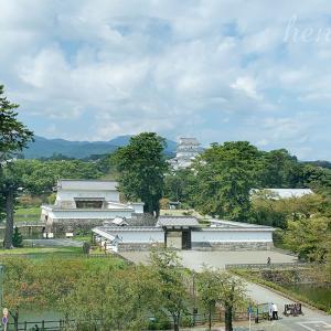 新名所、小田原三の丸ホールから見る小田原城