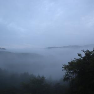 季節外れの阿木川湖での雲海