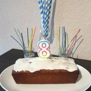 【8歳お誕生日】レモン風味のパウンドケーキでお祝いも…