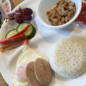 ドイツの学校休校中。我が家のランチ⑦納豆ご飯と無添加ソーセージでハムエッグ