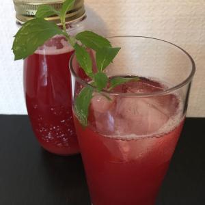 【砂糖なしレシピ】ルバーブとラズベリーのレモネード
