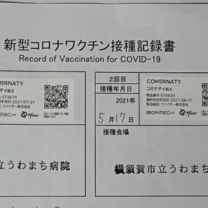 ファイザー社製新型コロナウィルスワクチン打ちました